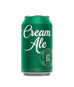 Can of Cream Ale on White Background
