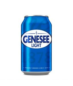 Can of Genesee Light on White Background