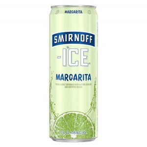 Can of Smirnoff Ice Margarita on White Background