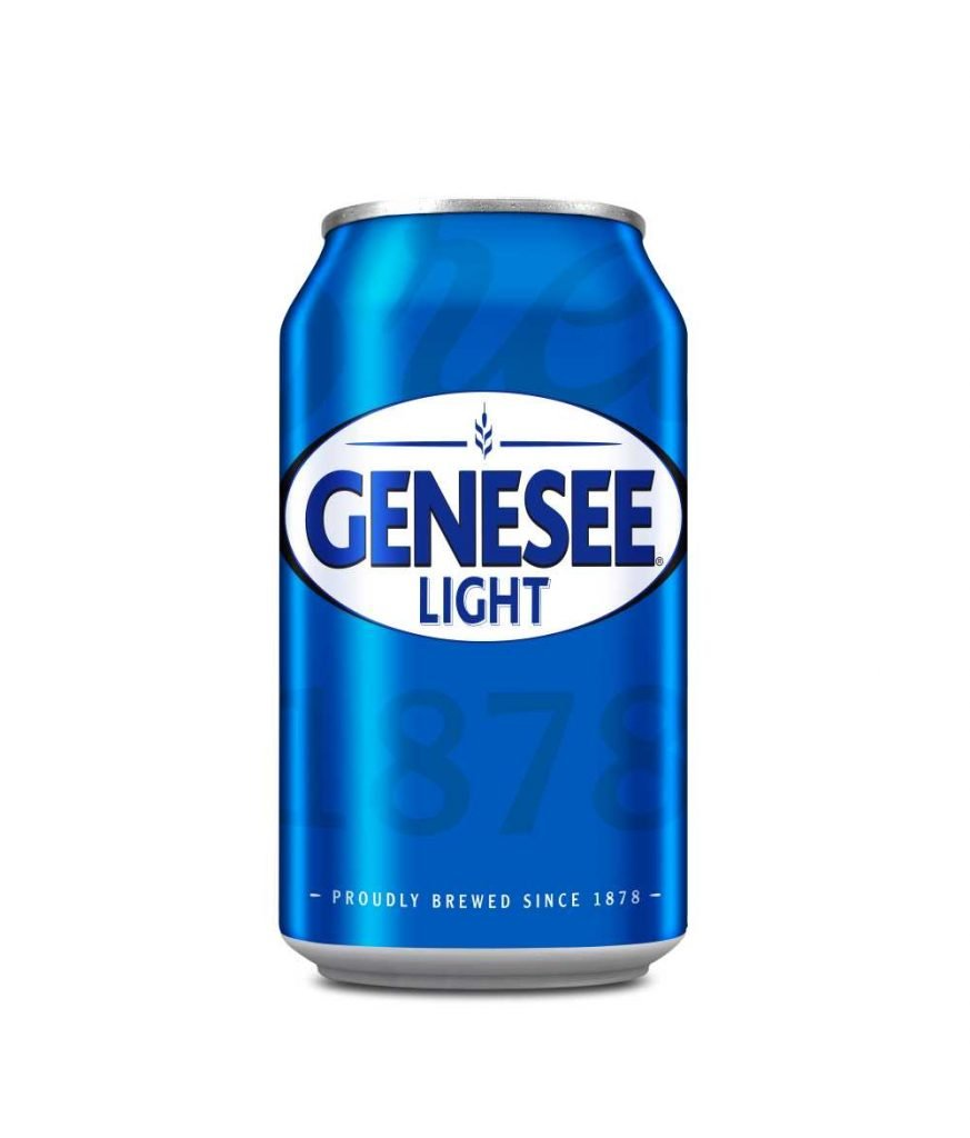Genesee Light Can Beverage on White Background