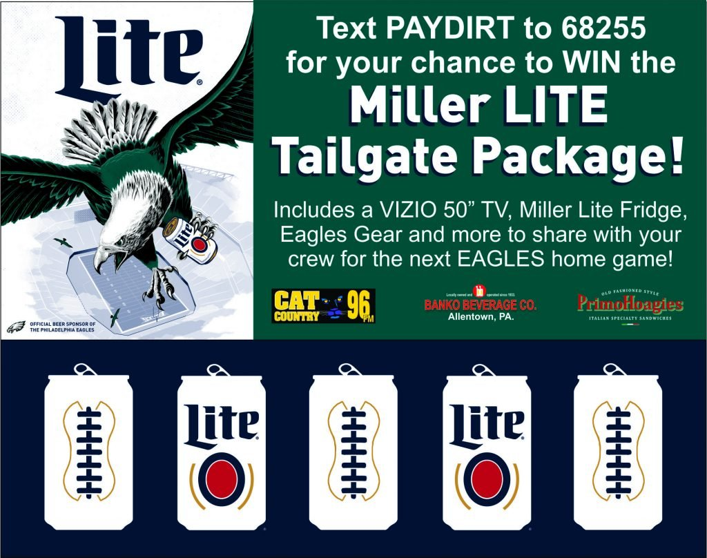 Advertisement for Miller LITE Tailgate Package Text Competition