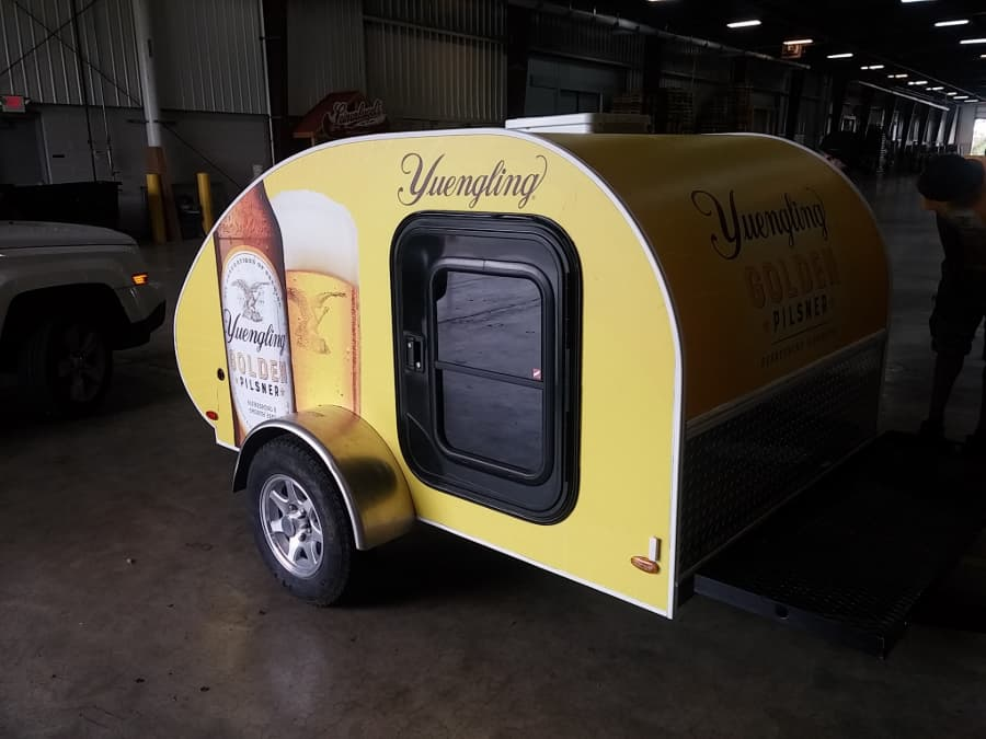 Yuengling trailer parked in warehouse