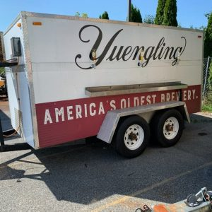 Yuengling trailer tap parked in lot