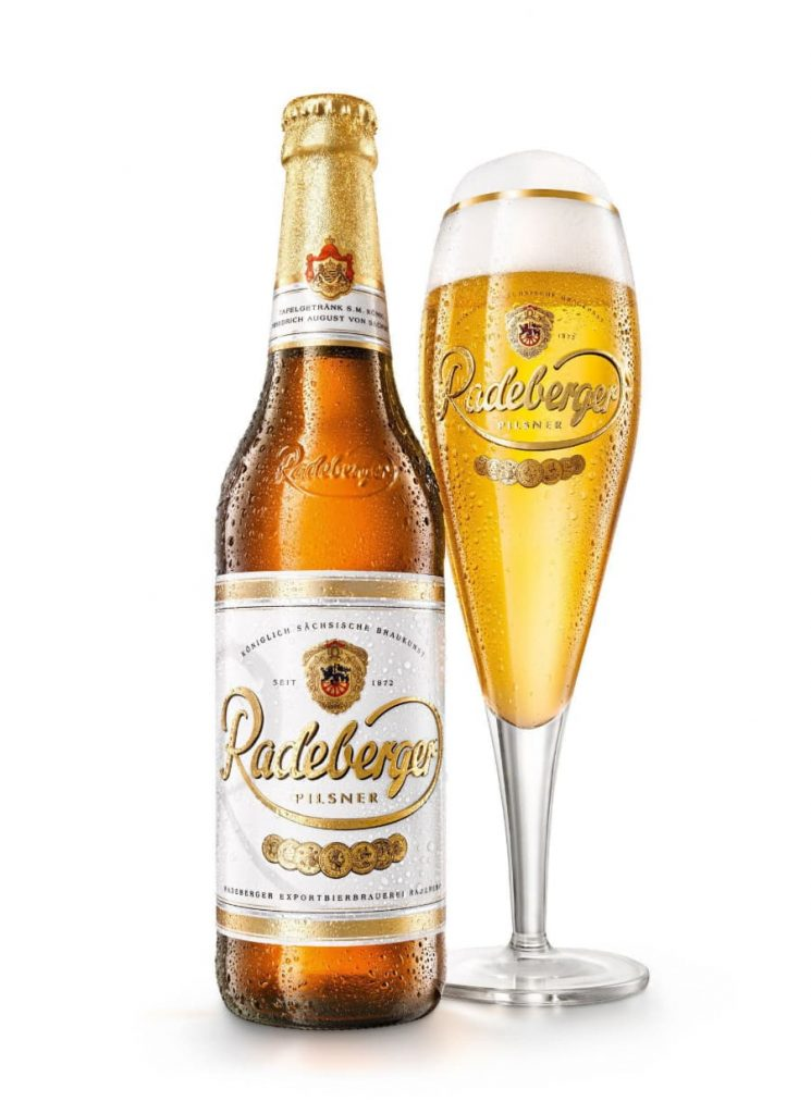 Radeberger Pilsner Bottle and Glass