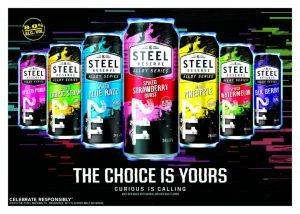 Lineup of Steel Reserve Alloy Series Beverages