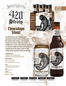 Advertisement of SweetWater 420 Strain Chocolope Stout