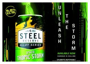 Advertisement for Steel Reserve Alloy Series Spiked Tropic Storm