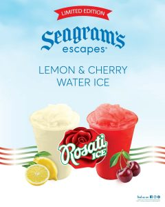 Seagram's Escapes Rosati Ice Advertisement for Lemon and Cherry Flavor