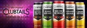 Advertisement for The Original Clubtails Flavors