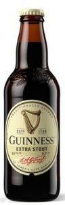 Bottle of Guinness Extra Stout