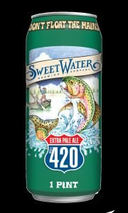 Pint Can of Sweet Water Extra Pale Ale 420