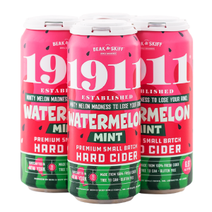 4 pack of 1911 Watermelon Mint Cider Cans